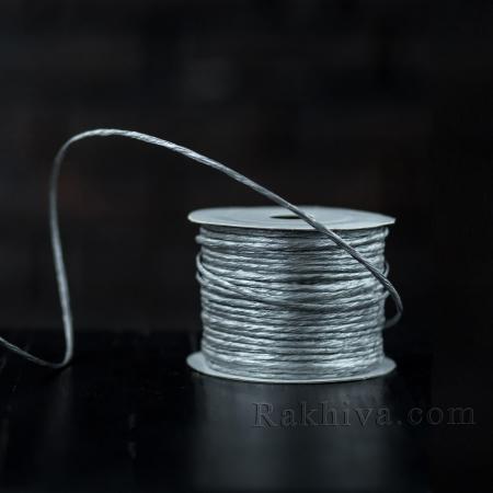 Хартиен шнур с тел, 2/50/61300 сребро, 50 м