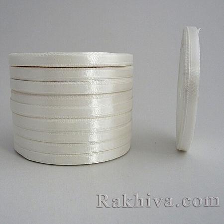 Сатен ПАКЕТ (10 ролки), 6мм/25 Y (10 ролки), бяло (6/250/23/3002)