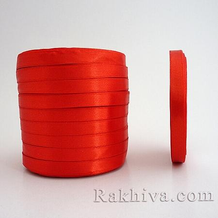 Сатен ПАКЕТ (10 ролки), 6мм/25 Y (10 ролки), червено (6/250/23/3047)