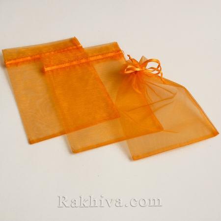 Торбички от органза оранжево , 7 см/ 9 см, (7/9/8275)
