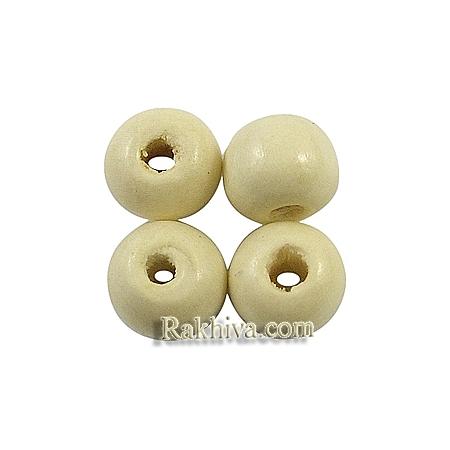 Дървени мъниста за бижута, за декорация, за украса цвят бяло, 3/4 мм/ 20гр., бяло (W02KM0H3)