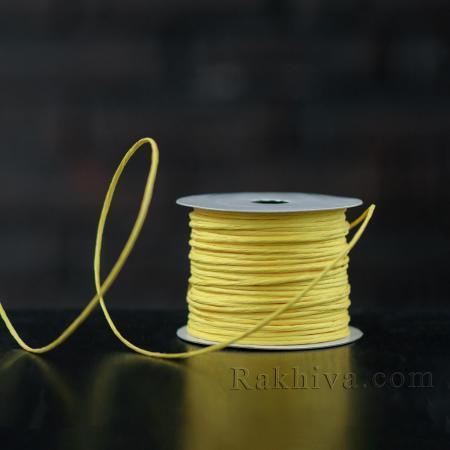 Хартиен шнур с тел, 2/25/6170 светло жълто, 22,50м