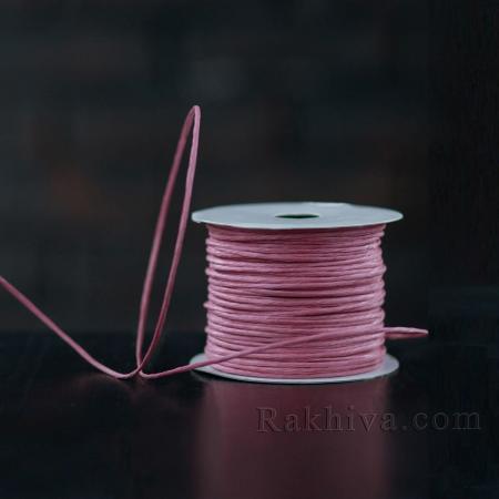 Хартиен шнур с тел, 2/50/6149 пепел от рози, 50 метра