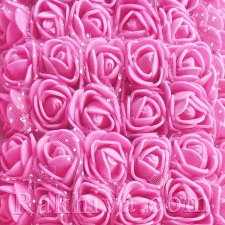 Силиконови розички - клонка, вечни рози, розово (2,5 см/ 12 бр.)