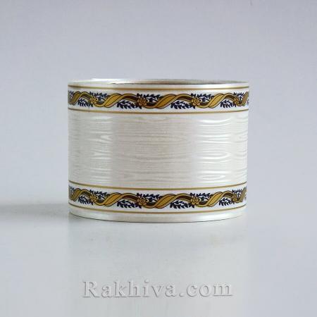 Обредни панделки с печат (Гърция), бяло (8 см/ 40 метра)