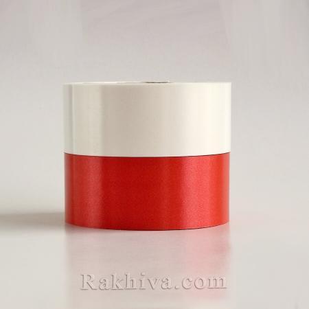 Панделки чисти цветове, 1 ролка 5см/ 100ярда 5/100/2880 (червено)