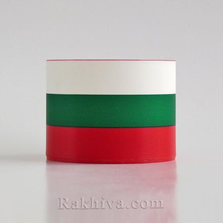 Панделка трикольор България, трикольор панделка (8см/40 метра)