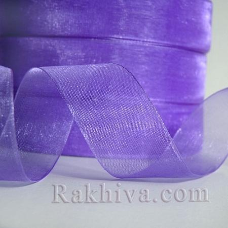 Тъкани панделки Органза, 1 ролка 6 mm/ 20 метра лилаво (6/20/2290)