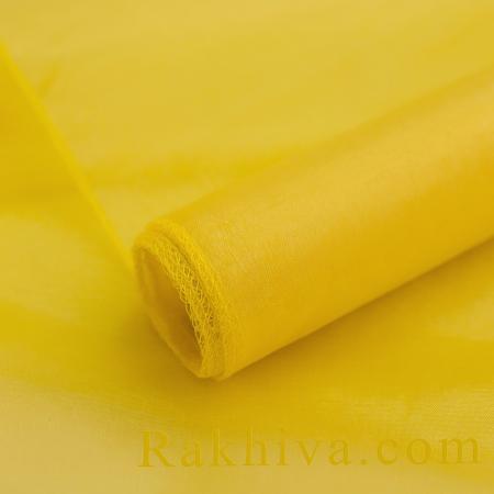 Органза ролка жълто