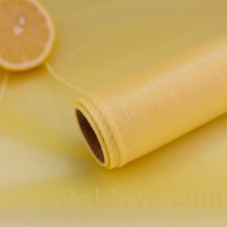 Органза ролка златно жълто, 47 см/ 10ярда,златно  жълто (49/10/3671)