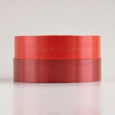 Панделки чисти цветове , 1 ролка 3см/ 100 ярда 14 3/100/2880 (червено)