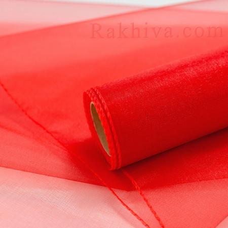 Органза червено, 36см/ 10ярда, червено (36/10/3680)