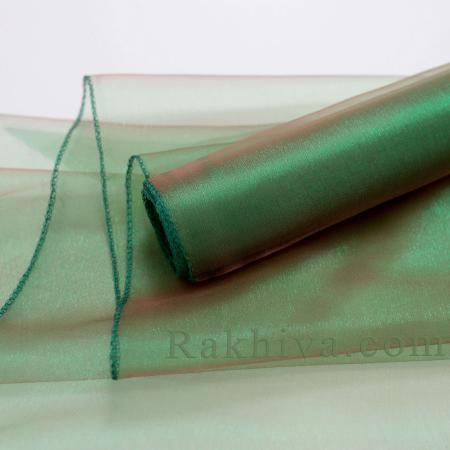 Органза ролка тъмно зелено, 36см/ 10ярда, тъмно зелено (36/10/3665)