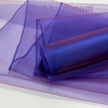 Органза тъмно синьо, лилаво, 47 см/ 10ярда, тъмно синьо,лила 49см/ 10 ярда (49/10/3659)