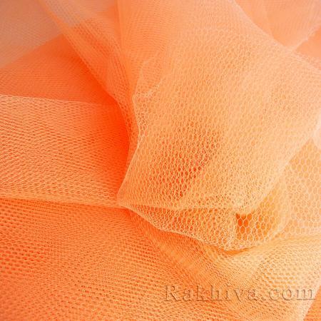 Сватбен тюл - праскова, праскова (84/48)(за 1 л. м)