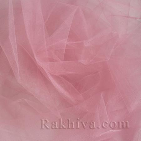 Кристален тюл - розово - МАЛКИ ПАРЧЕНЦА (по-малки от 1 л.м), розово (85/90) (за 0.6 лин. м)