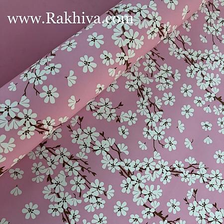 Италиански целофан Пролетни цветя розово, 100 см х 100 см (листи) (100/100/23/40)