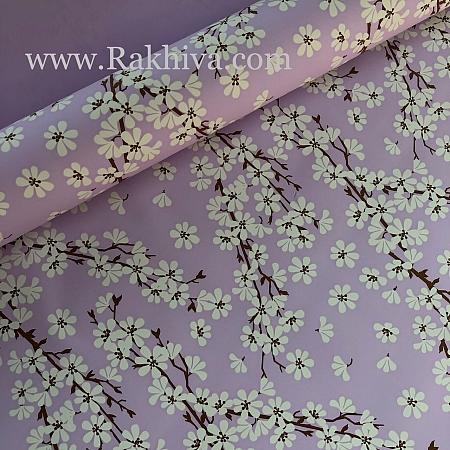 Италиански целофан Пролетни цветя лилаво, 100 см х 100 см (листи) (100/100/23/90)