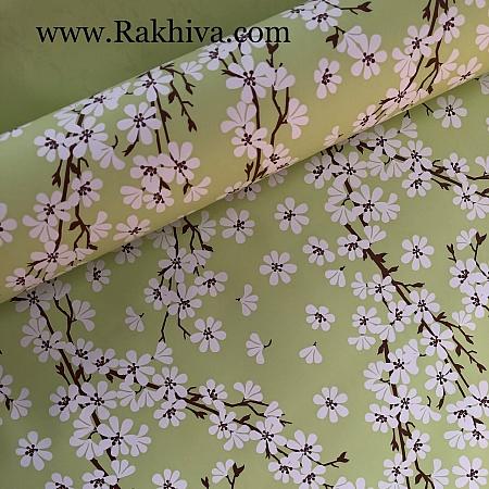 Италиански целофан Пролетни цветя резеда, 100 см х 100 см (листи) (100/100/23/61)