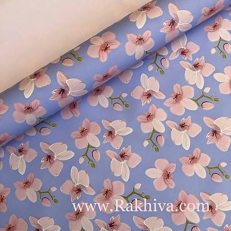 Италиански целофан Орхидея синьо, 100 см х 100 см (листи) (100/100/22/50)