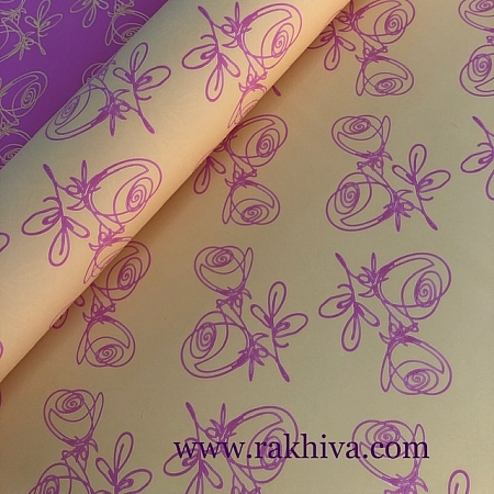 Италиански целофан Рози жълто, розово, 100 см х 100 см (листи) (100/100/24/70-40)