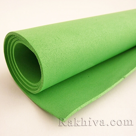 Фоам (Гумена хартия - EVA), тревисто зелено
