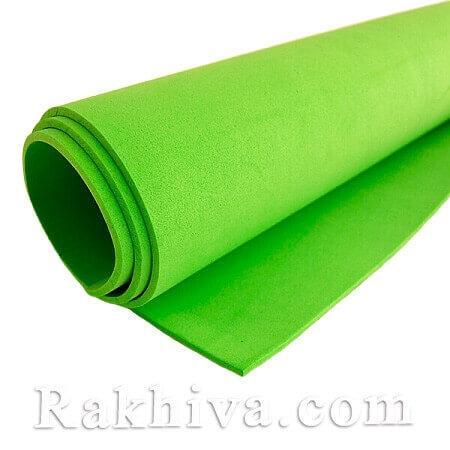 Фоам (Гумена хартия - EVA) , св. зелено 1 мм