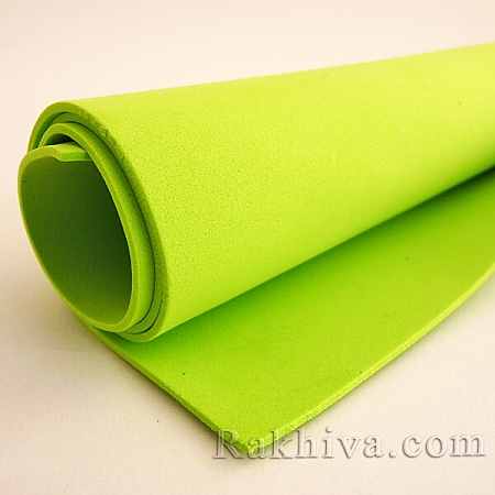 Фоам (Гумена хартия - EVA) , резеда 1 мм