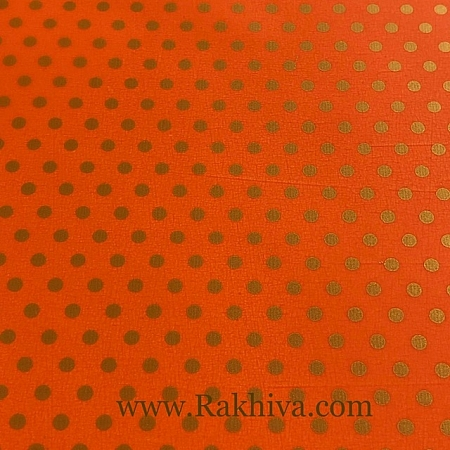 Целофан за цветя Точки, Точки/ оранжево, злато (50/50/131375)