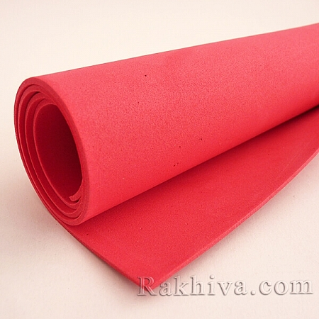 Фоам (Гумена хартия - EVA) , червено