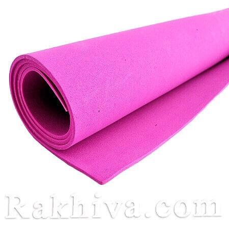 Фоам (Гумена хартия - EVA) , тъмно розово 1 мм