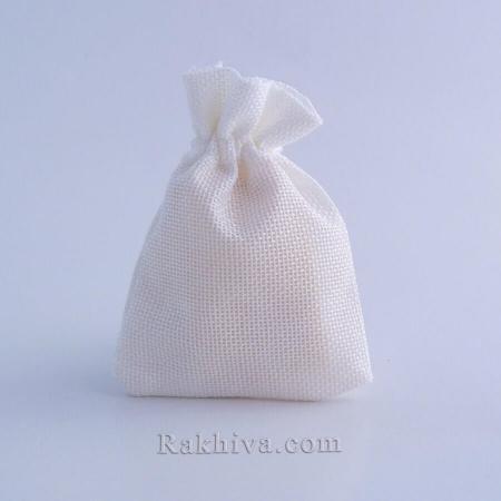 Ленени торбички за подаръци бяло