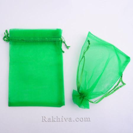 Торбички от органза тревисто зелено, 10 см/ 12 см, (10/12/8265)