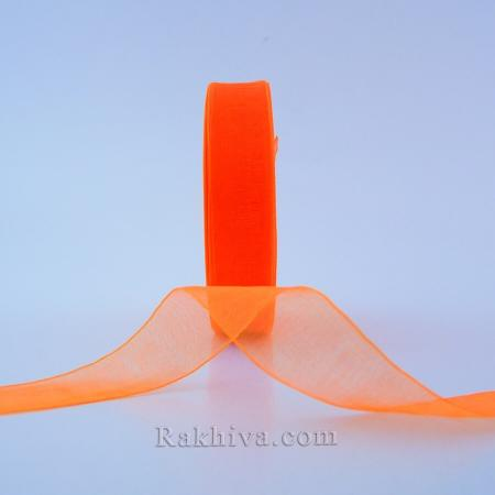 Тъкани панделки Органза св. оранжево