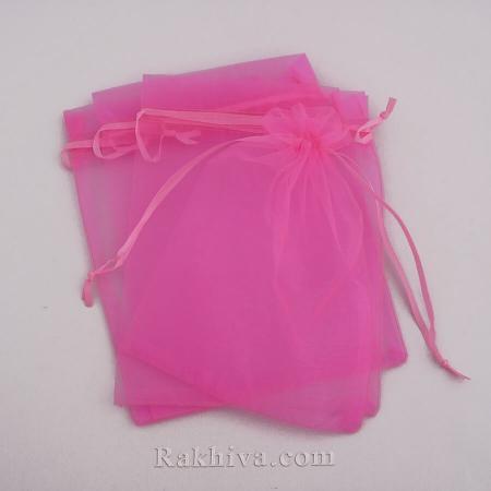 Торбички от органза ярко розово, 5 см/7 см, (5/7/8245-1)