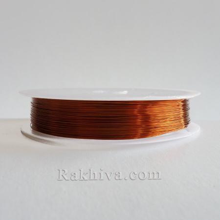 Тел месинг светло кафяво NEW, CWIR-0.3MM-12 (0,3мм/26 м) светло кафяво