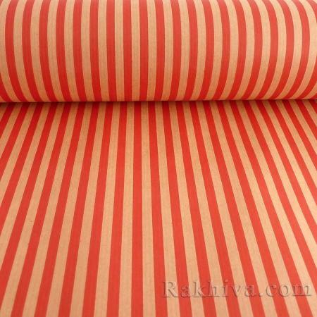 Крафт хартия за букети и опаковане Райе, 60 см/ 25м натурал, червено (60/25/18430-80)