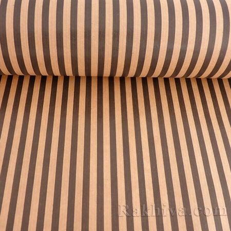 Крафт хартия за букети и опаковане Райе, 60 см/ 25 м натурал, черно (60/25/18430-20)