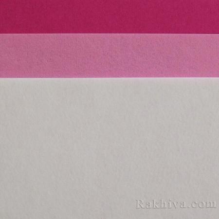 Филц за декорация и апликации 1, 2/ (209/S20) т.розово - твърд филц