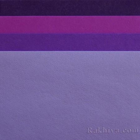 Филц за декорация и апликации, 4/ (18) виолетово - твърд филц
