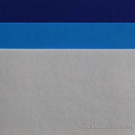 Филц за декорация и апликации, 3/ (288) т. синьо - твърд филц