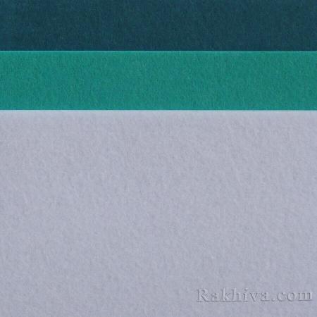 Филц за декорация и апликации, 3/ (S30) пастелно синьо (пакет 10 бр.) - твърд филц
