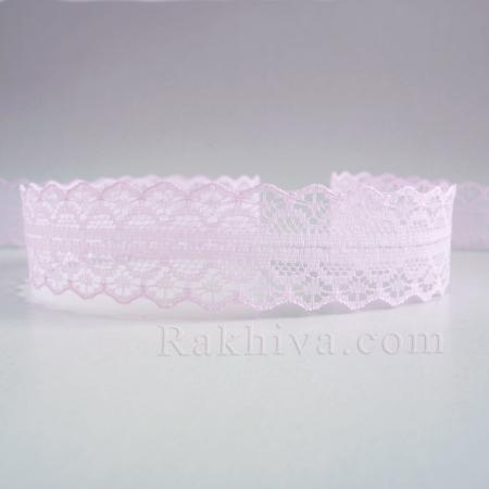 Дантела Рим, пакет перлено розово, 30мм/9м перлено розово (30/10/1658-2/41-1)