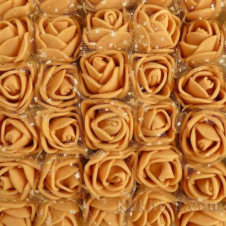 Силиконови розички - клонка, злато (2,5 см/12 бр)