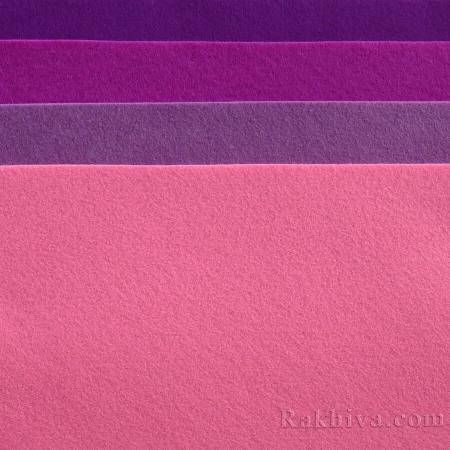 Мек филц за декорация и шиене , 4/ (620) лилаво - мек филц