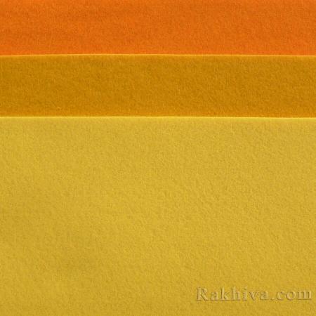 Мек филц за декорация и шиене, 7/ (645) светло оранжево - мек филц