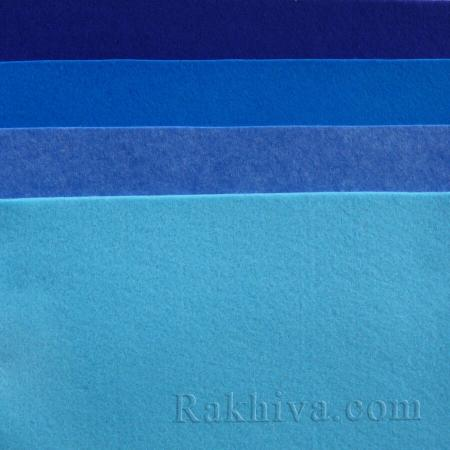 Мек филц за декорация и шиене, 3/ (679) тъмно синьо (пакет 10 бр.) - мек филц