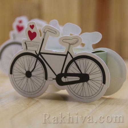 Малки кутийки за подаръчета , колело 1 бр, 40х100/70 мм