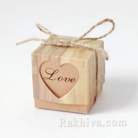 Малки кутийки за подаръчета , Love 1 бр, 50х50х50 мм