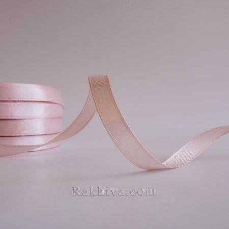 Панделка сатен - светла пудра (блъш), 1 ролка 10 мм/ 25 ярда (10/25/2333-1)